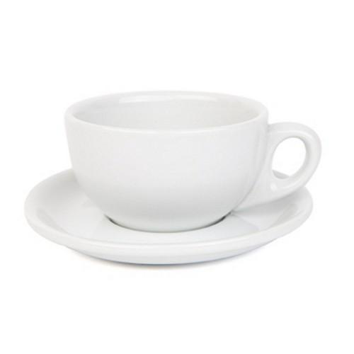 CAPPUCCINO CUP & SAUCER 220ML WHITE
