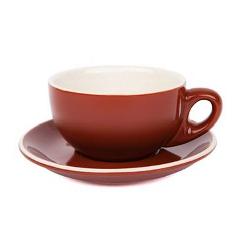 CAPPUCCINO CUP & SAUCER 220ML BROWN