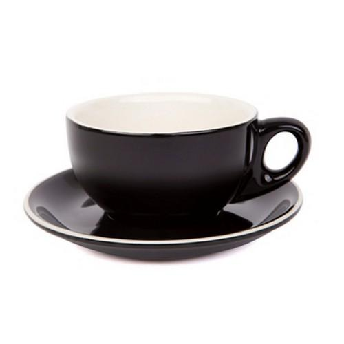 CAPPUCCINO CUP & SAUCER 220ML BLACK
