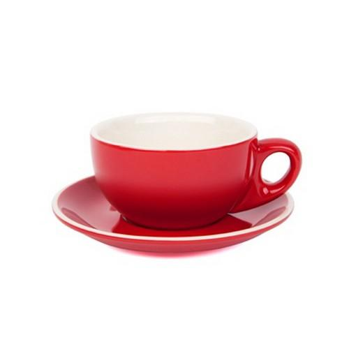 CAPPUCCINO CUP & SAUCER 220ML RED
