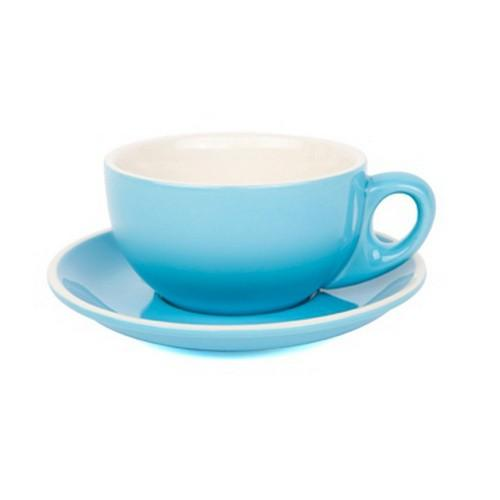 CAPPUCCINO CUP & SAUCER 220ML SKY BLUE