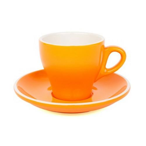 COFFEE CUP & SAUCER 180ML ORANGE
