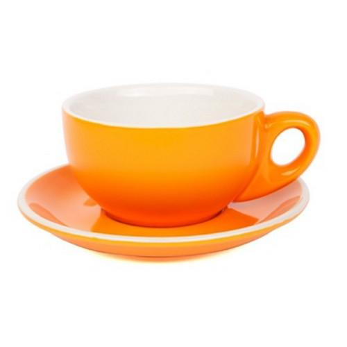 CAPPUCCINO CUP & SAUCER 220ML ORANGE