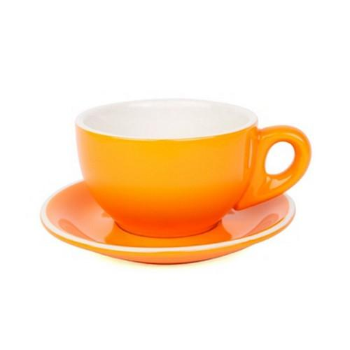 LARGE CAPPUCCINO CUP & SAUCER 280ML ORANGE