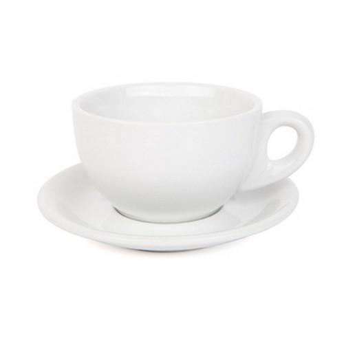LARGE CAPPUCCINO CUP & SAUCER 280ML WHITE