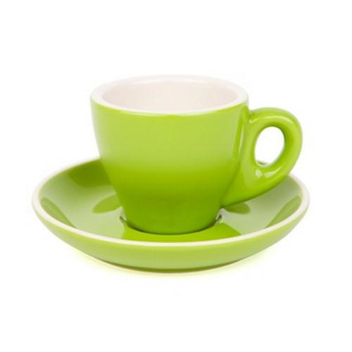 ESPRESSO CUP & SAUCER 90ML GREEN
