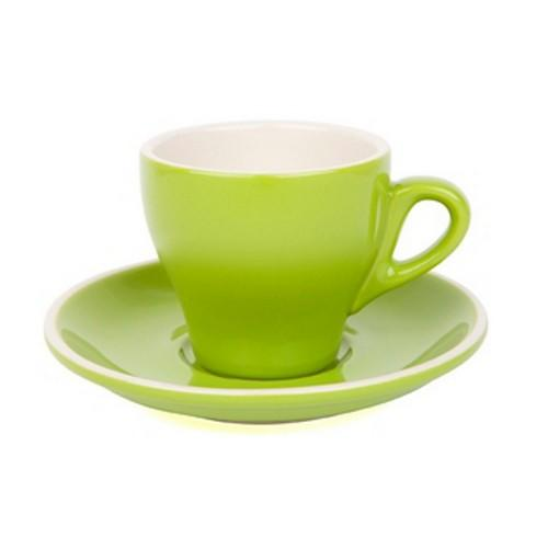 COFFEE CUP & SAUCER 180ML GREEN