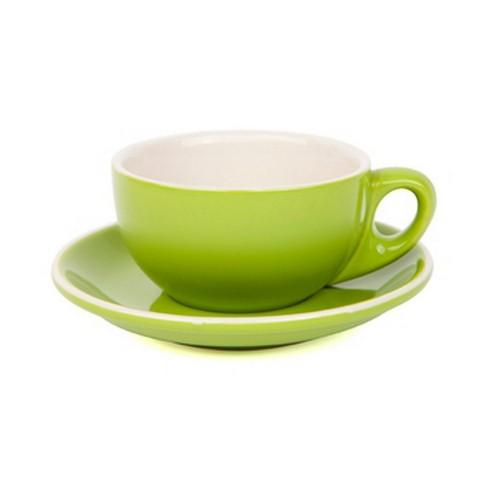 CAPPUCINO CUP & SAUCER 220ML GREEN