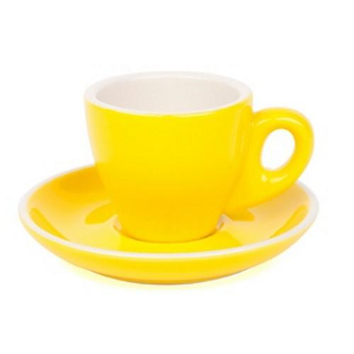 ESPRESSO CUP & SAUCER 90ML YELLOW