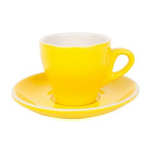 COFFEE CUP & SAUCER 180ML YELLOW