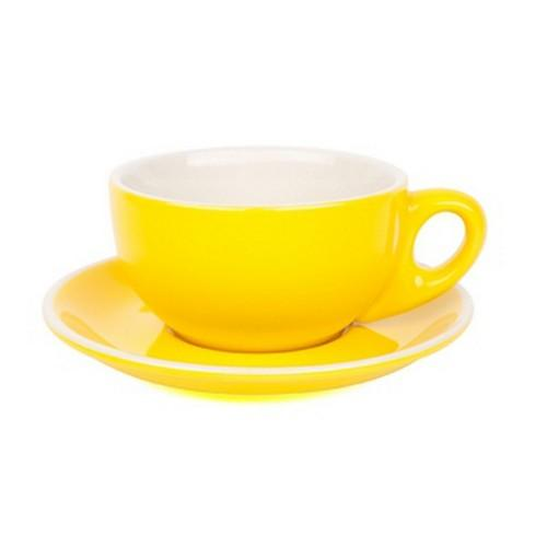 CAPPUCCINO CUP & SAUCER 220ML YELLOW