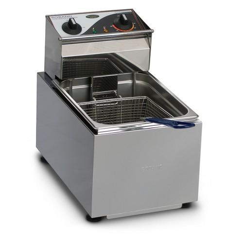 FRYER BENCHTOP SINGLE PAN 8L 1 BASKET 3450W 15AMP ROBAND