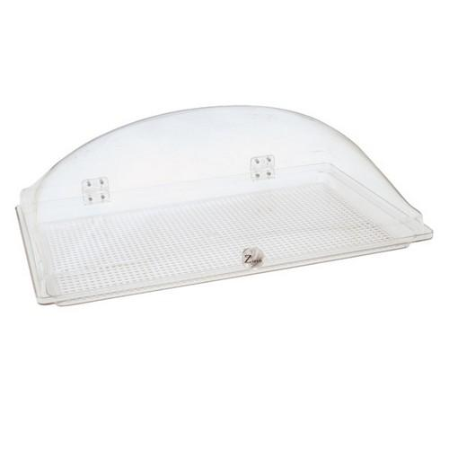 CAKE COVER POLY DOME W/BASE 550X350X185MM ZICCO