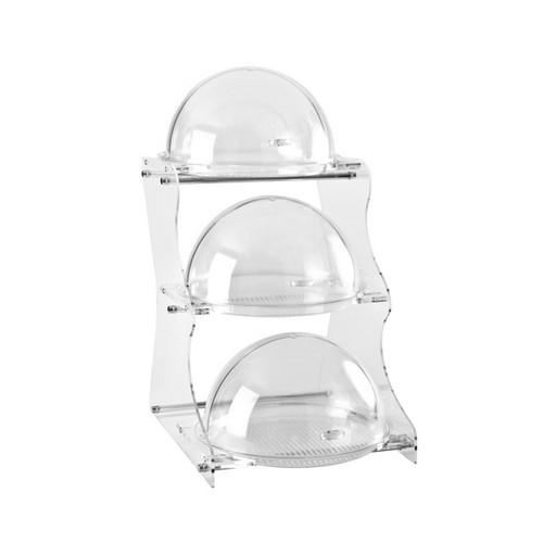 DISPLAY STAND POLY 3 TIER DOME 450X360X670MM ZICCO