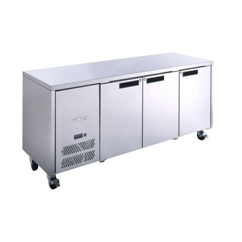FREEZER UNDERCOUNTER 3 SOLID S/S DOOR 510L GN 1/1 OPAL WILLIAMS