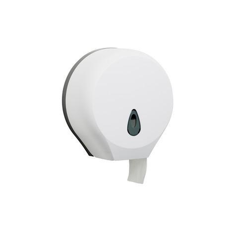 DISPENSER PLASTIC WHITE FOR JUMBO TOILET ROLL