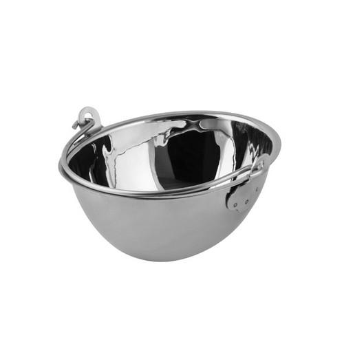 PAIL MINI OVAL S/S 130X115X55MM SOHO MODA