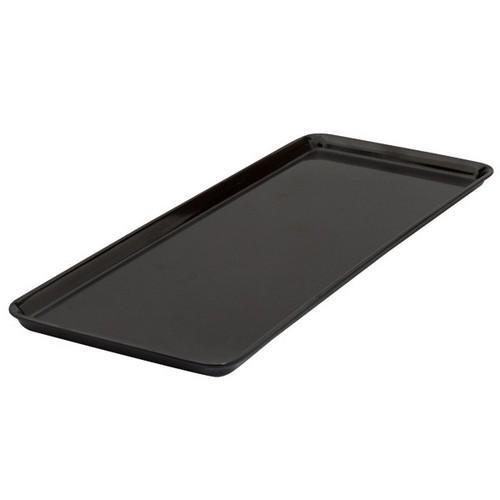 PLATTER RECT 390X150MM BLACK MELAMINE RYNER