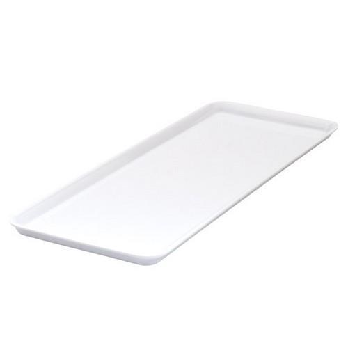 PLATTER RECT 390X150MM WHITE MELAMINE RYNER