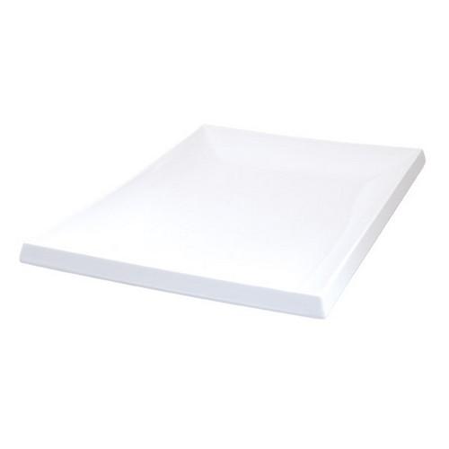 PLATTER SUSHI 200X140MM WHITE MELAMINE RYNER