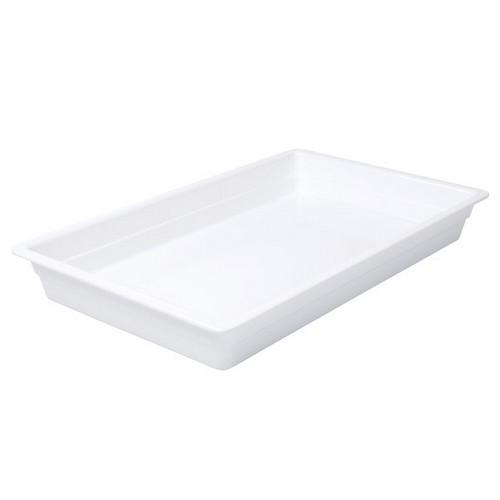 FOOD PAN MELAMINE 1/1 SIZE 65X530X325MM WHITE RYNER