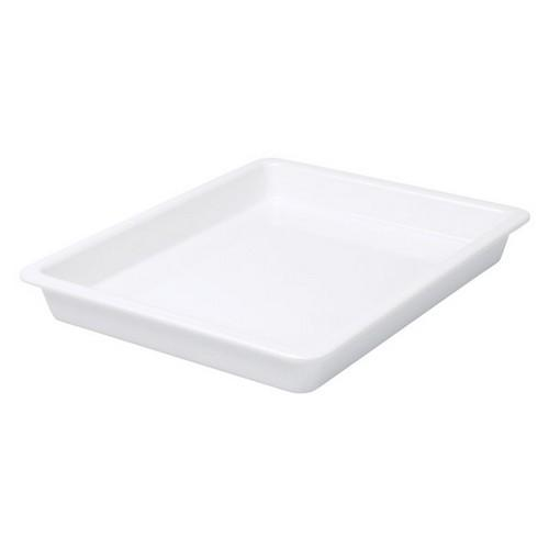 FOOD PAN MELAMINE 1/2 SIZE 40X325X265MM WHITE RYNER