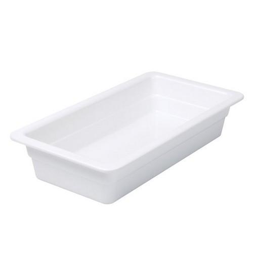 FOOD PAN MELAMINE 1/3 SIZE 65X325X175MM WHITE RYNER