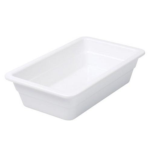 FOOD PAN MELAMINE 1/4 SIZE 65X265X165MM WHITE RYNER
