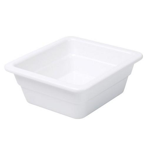 FOOD PAN MELAMINE 1/6 SIZE 65X176X162MM WHITE RYNER