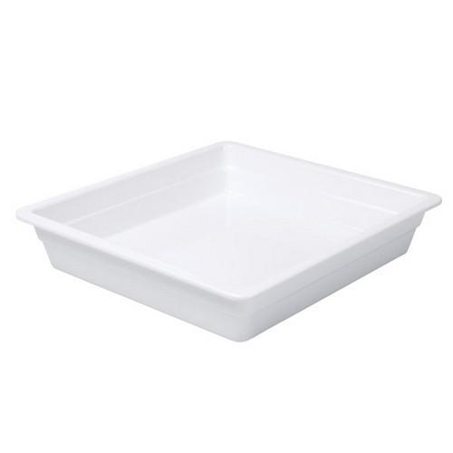 FOOD PAN MELAMINE 2/3 SIZE 65X353X325MM WHITE RYNER