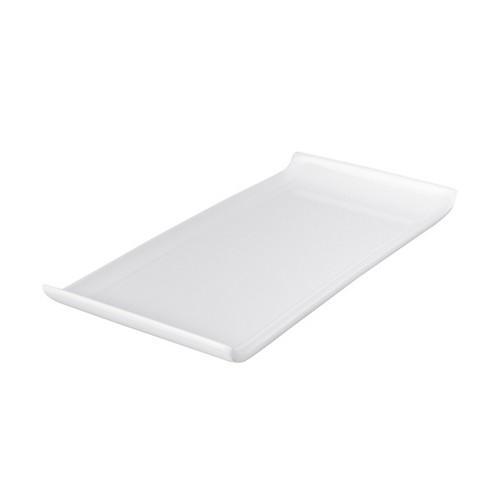 PLATTER RECT W/LIP 300X145MM WHITE MELAMINE RYNER