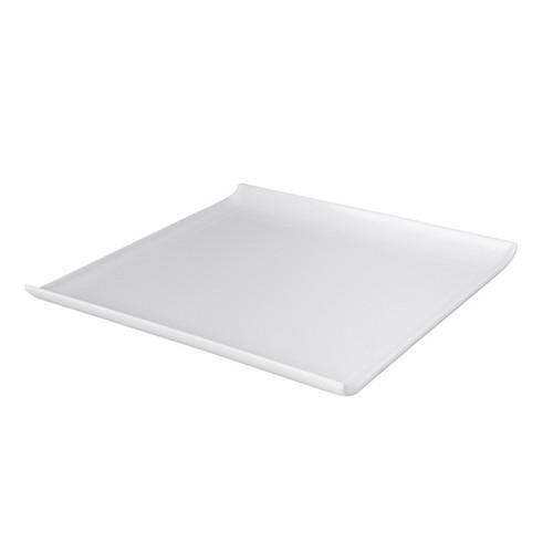 PLATTER SQUARE W/LIP300MM WHITE MELAMINE RYNER
