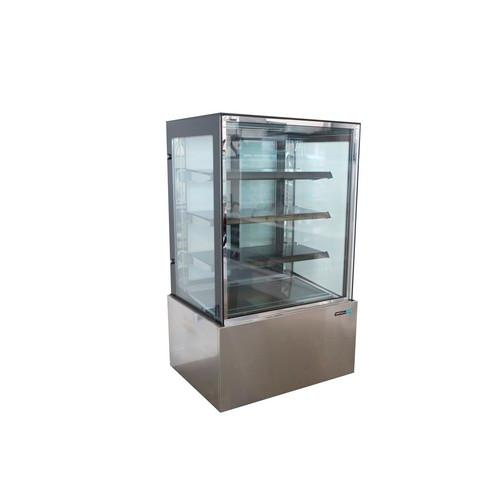 COLD CAKE DISPLAY SHOWCASE SQUARE GLASS 4 TIER 900MM ANVIL AIRE