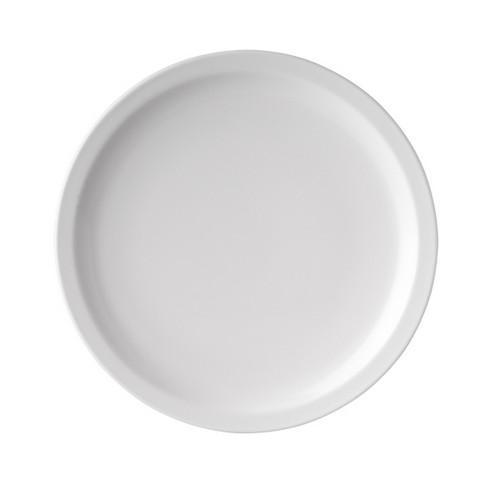 PLATE ROUND 226MM WHITE MELAMINE RYNER