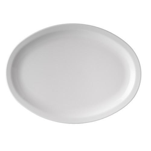 PLATTER OVAL 335MM WHITE MELAMINE RYNER