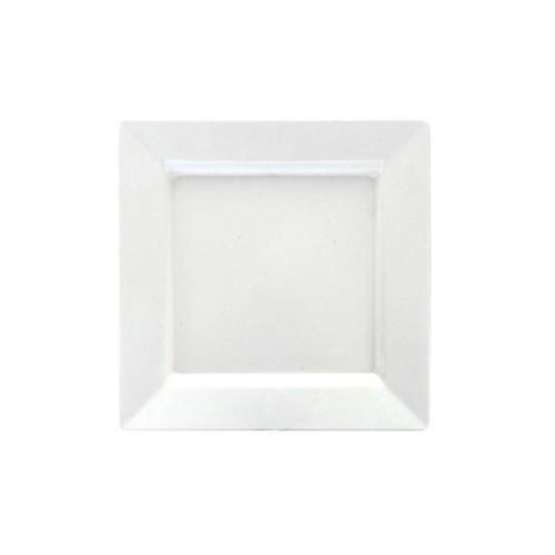 PLATTER SQUARE W/R 250MM WHITE MELAMINE RYNER