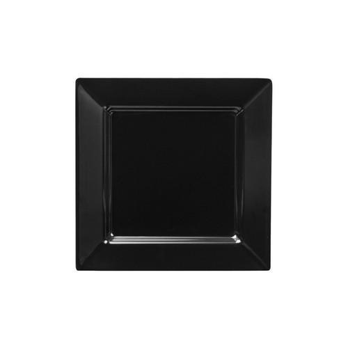 PLATTER SQUARE W/R 250MM BLACK MELAMINE RYNER