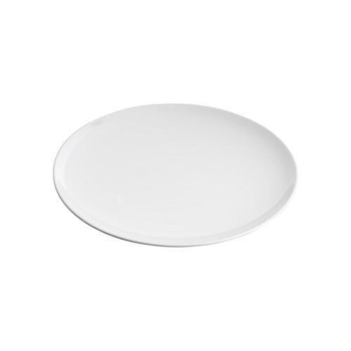 PLATE ROUND COUPE 250MM WHITE MELAMINE GELATO JAB