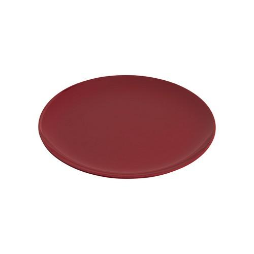 PLATE ROUND COUPE 250MM RED MELAMINE GELATO JAB