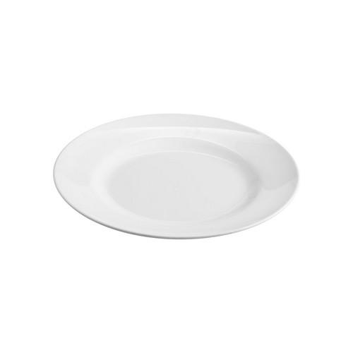 PLATE ROUND W/R 200MM WHITE MELAMINE JAB