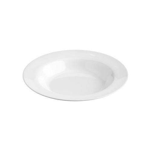 PLATE ROUND PASTA W/R 300MM WHITE MELAMINE JAB
