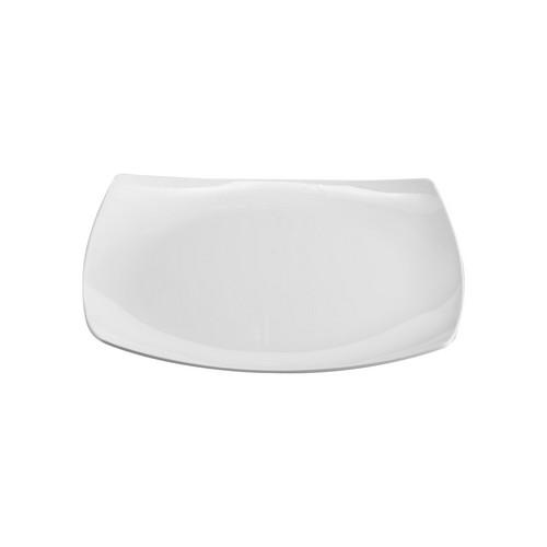 PLATE SQUARE COUPE 270MM WHITE MELAMINE JAB