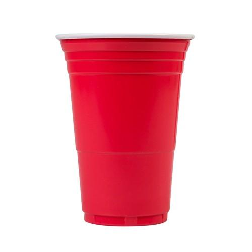 CUP PLASTIC RED DISPOSABLE 425ML (CT1000)