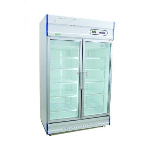 CHILLER UPRIGHT DISPLAY 2 GLASS DOORS 1000L 1260MM ANVIL AIRE