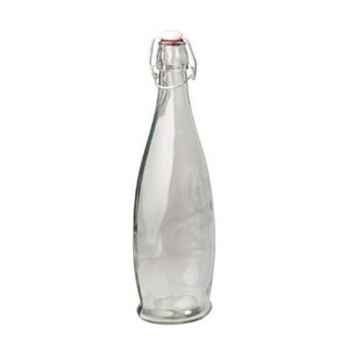 BOTTLE GLASS 1L MODERN CLEAR