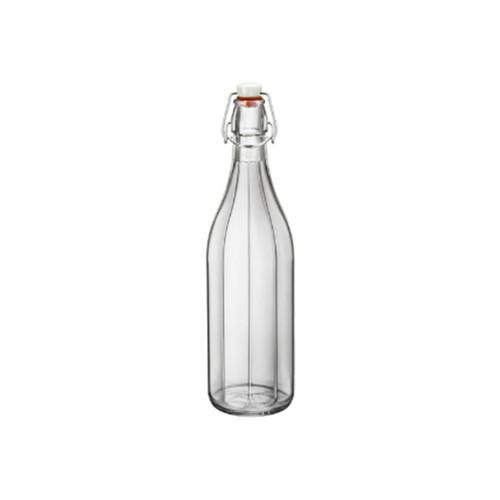 BOTTLE GLASS 1L CLEAR OXFORD BORMIOLI ROCCO
