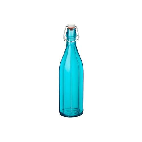 BOTTLE GLASS 1L SKY BLUE OXFORD BORMIOLI ROCCO