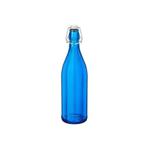 BOTTLE GLASS 1L DARK BLUE OXFORD BORMIOLI ROCCO