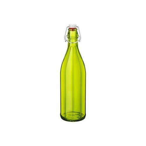 BOTTLE GLASS 1L GREEN OXFORD BORMIOLI ROCCO