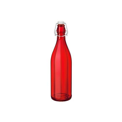 BOTTLE GLASS 1L RED OXFORD BORMIOLI ROCCO